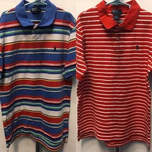 2-GAP Striped Polo Shirts Bundle - Size 14-16